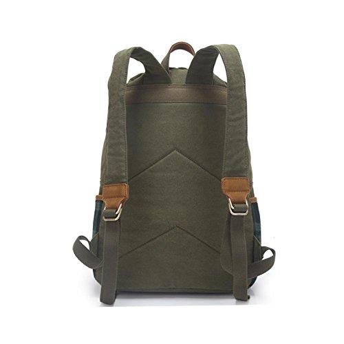 Mode Segeltuch-Schulter-Beutel-Computer-Beutel-Handbreathable Travel Rucksack army green