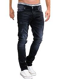 MERISH Stretch Jeans Designer 5-Pocket Used Denim Herren Slim Fit j3014