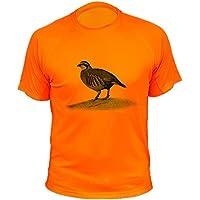 Camisetas Personalizadas de Caza, Perdiz roja - Ideas Regalos (30166, Naranja, XXL)