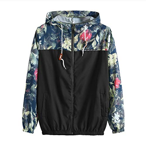 LILICAT Winterjacke Damen Kapuzenjacke Hooded Sweater Sweat-Shirt-Jacke Causal Lightweight Outdoorjacke Sweatshirt Mode Elegant Printed Shirt Langarm Pullover Kapuzenpulli (Lightweight Hooded Pullover)