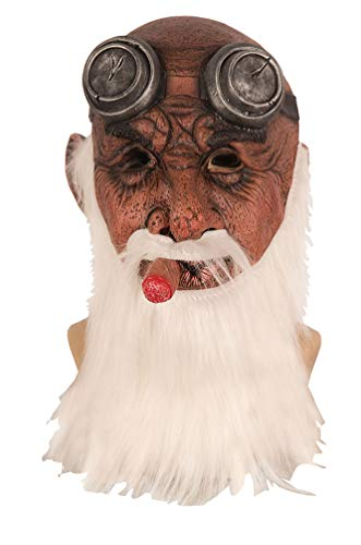 Karneval-Klamotten Maske mit Zigarre Latex
