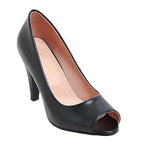 Mee Shoes Damen High Heels Peep Toe Pumps (36, Schwarz) (High-heels Peep-toe-pump)