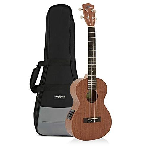 Kit ukulele tenore elettroacustico deluxe Gear4music