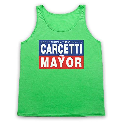 Inspiriert durch The Wire Carcetti For Mayor Inoffiziell Tank-Top Weste Neon Grun