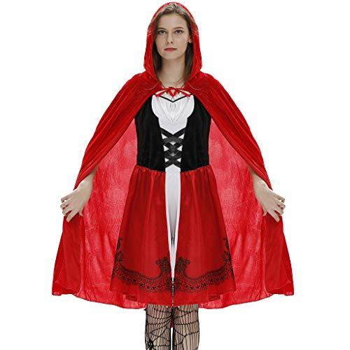 Für Kostüm Mantel Roten Britischen Erwachsene - Honestyi Damenbekleidung Sexy Mantel Kleid Anzug Cosplay Halloween Clothes Festival Damen Halloween Kostüme Rotkäppchen Kostüm
