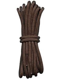 Fabmania - Cordones para calzado de trabajo, de senderismo o de montañismo (diseño redondeado), color marrón