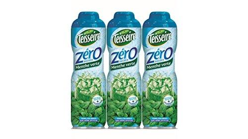 Pack de 3 sirops Teisseire 0% de sucre menthe verte - 3 x 60 cl