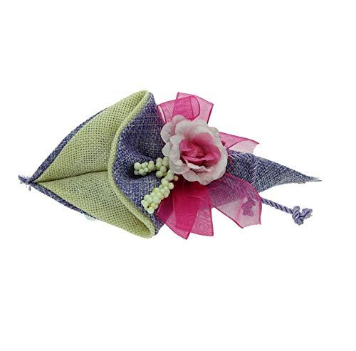 Alice's decorations 20 PZ Sacchetto Cono in Tessuto Regalo Bomboniere Fai da Te Portaconfetti Battesimo Matrimonio Anniversario complenanni Festa Gioielli