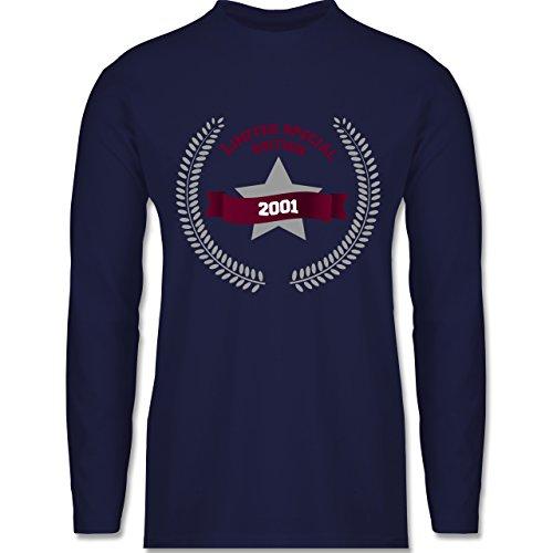 Shirtracer Geburtstag - 2001 Limited Special Edition - Herren Langarmshirt Navy Blau