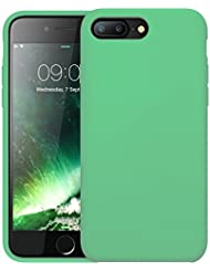 First2savvv verde Slim Fit Silicona iPhone 7plus 5.5 Choque Absorbente Funda Carcasa Case Bumper con Absorción de Impactos Case Cover - XJPJ-I7-5.5-C19