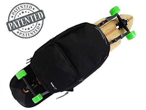 MAXOfit Longboard Rucksack LB-Pro mit Viel Stauraum und Coolen Extras