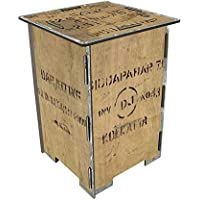 Werkhaus Photohocker Teekiste 295 x 295 x 420 mm Taburete, MDM, carbón, 29.5 x 29.5 x 42 cm