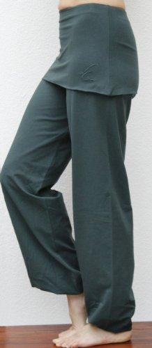 ESPARTO pantalon yoga Sooraj en coton biologique Thymian (Dunkelgruen)