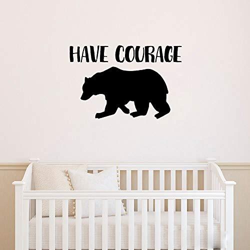 zimmer Haben Sie Mut Wandaufkleber Zitate inspirieren Bär Kinderzimmer Wandtattoos für Wohnzimmer Kinderzimmer Kinder Schlafzimmer ()