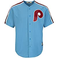 YQSB Camiseta Deportiva Baseball Jersey Liga de béisbol Philadelphia Phillies Uniforme de béisbol,Blue,Men-L