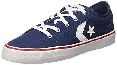 Converse Unisex's Navy/Enamel Red/White Sneakers-6 UK/India (39 EU) (8907788162147)