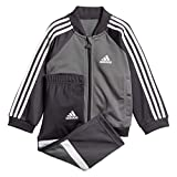 adidas Baby Shiny Trainingsanzug, Grey Four/Carbon/White, 104
