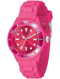Madison New York - SL4167S - Montre Mixte - Quartz Analogique - Cadran Rose - Bracelet Silicone Rose