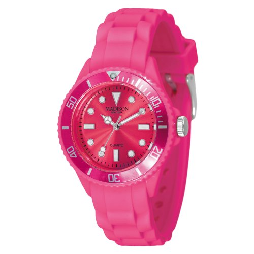 Madison New York Unisex-Armbanduhr Candy Time Mini Analog Silikon L4167-05/3