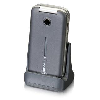 amplicomms PowerTel M7000i, Großtasten-Klapphandy mit extra großen, beleuchteten Tasten und Notruftaste, Freisprech-Funktion, silber