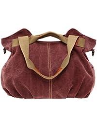 Umily Vintage Tissu Totes Sac à Main Sacoche pour Femmes/Filles sacs à main pour femmes et Hobos Sacs à bandoulière-Purple