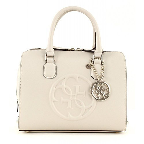 GUESS Korry Box Satchel Bone