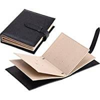 Creative Earrings Leather Storage Books Travel Portable Earrings Organizer - Black