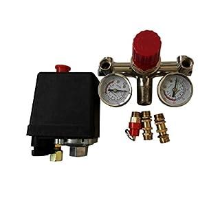 90-120PSI Einstellbares Luftkompressor-Druckschaltersteuerventil mit 2 Druckstufen Ventilsteuersatz 002