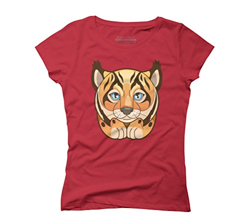 lynx Women's Graphic T-Shirt - Design By Humans Red