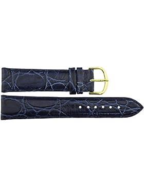 Armbanduhr lederarmband in Blau