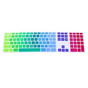 Zhuhaitf Accessori per Computer Desktop Keyboard Case Protective Film Soft Silicone Ultra-thin for Imac G6 with Numeric Keypad Colorful#