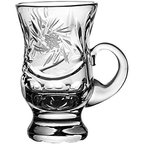 Crystal Julia 3840 de copas de licor cristal de plomo de centrifugado diseño de estrellas de mano, 6 pcs con embalaje