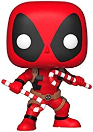 Funko 33985 POP Bobble: Marvel: Holiday Deadpool w/ Candy Canes