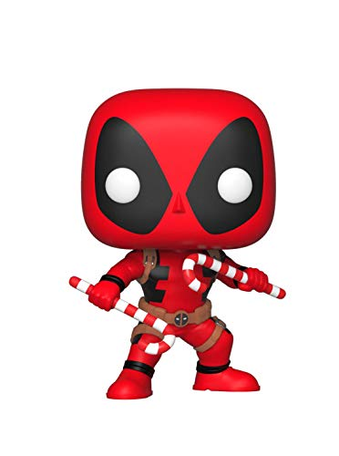 Funko 33985 Marvel: Holiday Deadpool w/Candy Canes POP Bobble, Multi