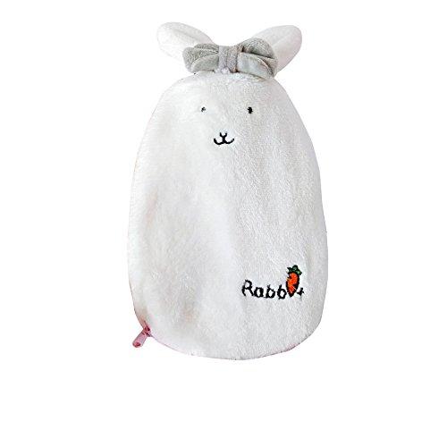 Scaldabiberon borsa termica per acqua calda con cappuccio riscaldato pad soft cover per lenire caldo freddo rilassante dolore caldo gonfiore sollievo donna bambini (white)