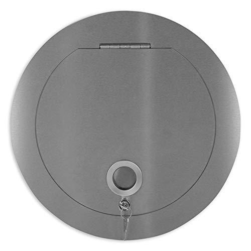 Ampel 24 Wäscheabwurfschacht Einwurftür für Wäschesammler | Muschelgriff | rund Ø 300 mm | Edelstahl rostfrei | abschließbar -