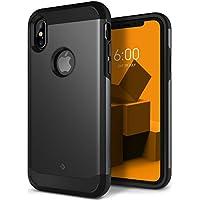 Funda iPhone X, Caseology [serie Legion] Proteccion resistente Protector delgado, robusto y acorazado de doble capa [Negro - Black] para Apple iPhone X (2017)
