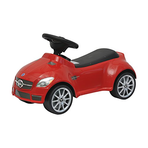 Image of HOMCOM Mercedes SLK 55 AMG Baby Kids Push Along Car Toddler Ride On Toy (Red)