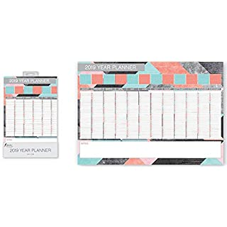 ALANNAHS ACCESSORIES 2019 Fashion Year Wall Planner Monthly calendar Daily Notes
