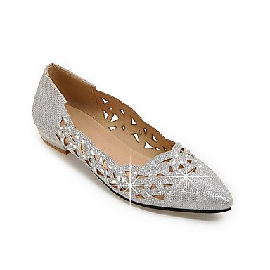Confortevole ed elegante piatto scarpe donna Appartamenti Primavera Estate Autunno scarpe Club Ballerina Glitter Party & abito da sera Casual tacco piatto paillettes glitter spumanti Silver Gold Gold