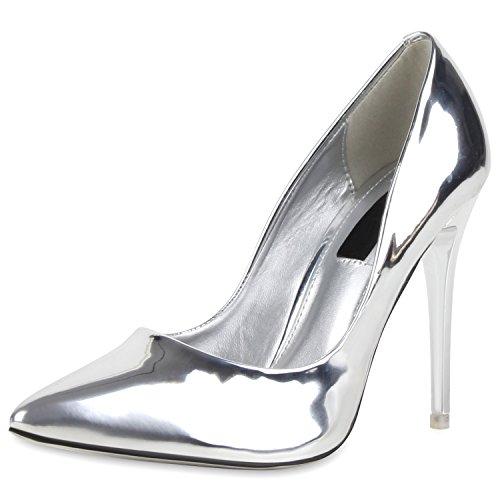 Schuhform Modische Akzente Business amp; Damen Spitze Oder Pumps Stilvolle Party Lack Silber Durch ExwYgH4q