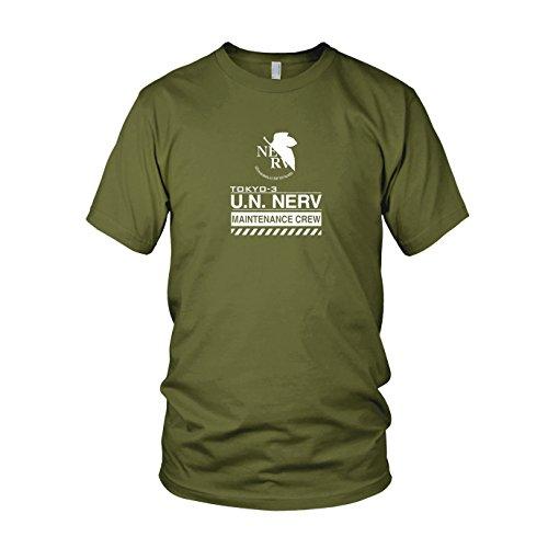 NERV Maintenance Crew - Herren T-Shirt, Größe: S, Farbe: - Buch Nerd Kostüm