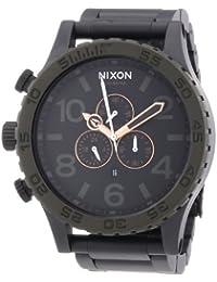 Nixon Herren-Armbanduhr XL Analog Quarz Edelstahl beschichtet A0831530-00