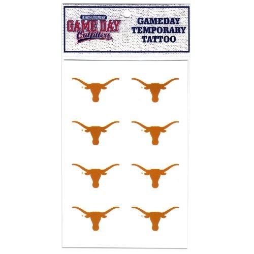 Game Day Outfitters NCAA Texas Longhorns Tattoo (Texas Longhorn Dekorationen)