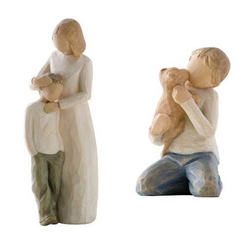 Willow Tree Mother with 2 Sons Figurine Set