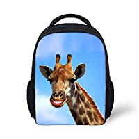 Nopersonality Kid Toddler Backpack Cute Animal Printed Small Schoolbag for Baby 1-3 Years Old