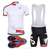 Best Bib Shorts - FidgetGear 2018 Men Cycling Jersey Short Sleeves 9D Review