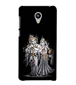 printtech Lord God Radha Krishna Back Case Cover for Meizu m2 note