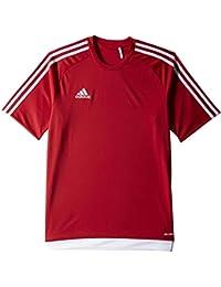 adidas Estro 15 JSY - Camiseta para hombre, color rojo / blanco, talla 164