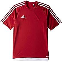 adidas Estro 15 JSY - Camiseta para hombre, color rojo / blanco, talla 152